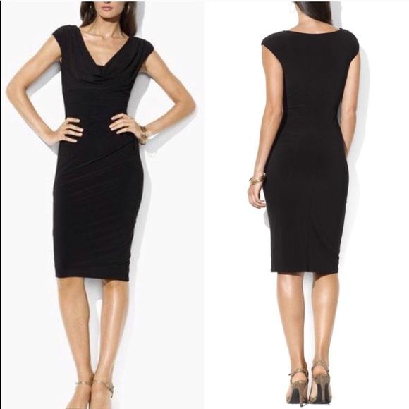 Lauren Ralph Lauren Dresses Ralph Lauren Black Cowl Neck Dress